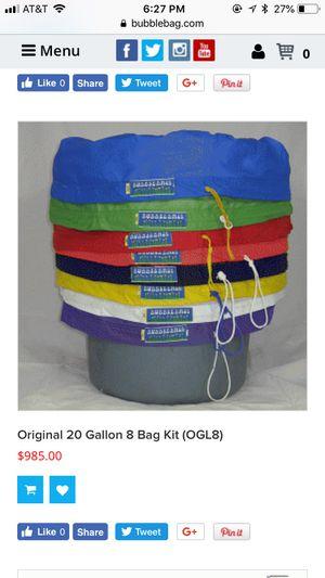 Bubblebag (8) 20 Gallon Bags NEVER used $200 OBO for Sale in Denver, CO