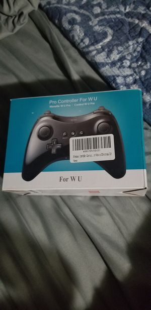Wireless Wii U Controller Pro Gamepad for Nintendo Wii, ixaer Black Classic Wireless Bluetooth Dual Analog Pro Controller Gamepad - NEW IN BOX for Sale in San Diego, CA