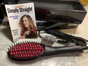 Hair Straightener Brush, PTC Ceramic Heating Negative Ion Straightening Brush with LED Temp Display and 30 Levels of Temperature, Reduce Static and A for Sale in Carrollton, TX