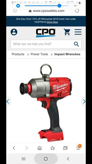 Milwaukee m18 FUEL 7/16 hex impact for Sale in Allentown, PA