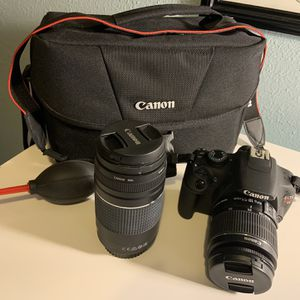 Cannon Rebel T5 With Extra Lenses And Bag for Sale in Brandon, FL