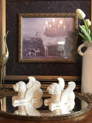 """Vintage Fitz and Floyd winged lion candle holders, 5""""x3"""". Made in Japan. Highly collectible   for Sale in Norcross, GA"""