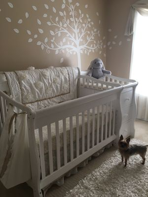 Crib with Changing Table, Rocking Chair Set and Bedding for Sale in Peachtree Corners, GA