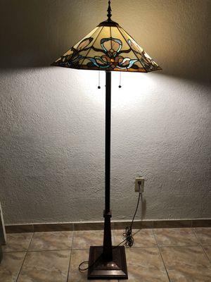 Tiffany style bronze floor lamp corner living room den for Sale in Miami, FL