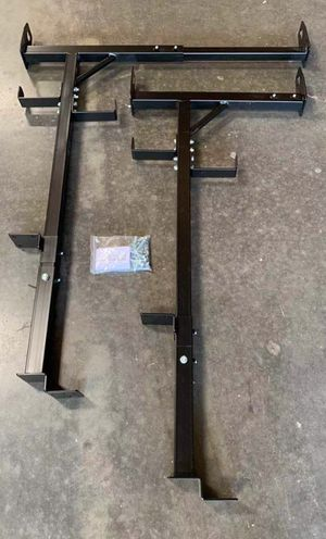 New in box side mount 400 lbs weight capacity commercial contractor pickup truck bed universal adjustable ladder rack for Sale in West Covina, CA