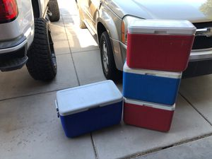 Coleman coolers $15 each or all for $45 for Sale in El Mirage, AZ