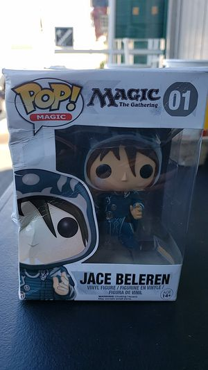 FUNKO POP COLLECTIBLE ACTION FIGURE MAGIC THE GATHERING 01 JACE BELEREN DAMAGED PACKAGING PICK UP IN WHITTIER THANKS 😊 for Sale in Santa Fe Springs, CA
