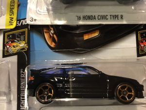 HONDA CRX BLACK ON BLACK WITH BRONZE RIMS 2017 RELEASE RETIRED CARD BY HOTWHEEL for Sale in San Diego, CA