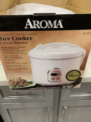 Aroma 10-Cup Programmable Rice Cooker - ARC830TC for Sale in Long Beach, CA