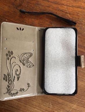 New Butterfly leather wallet case for cell phone for Samsung On5 A7 A3 KB $10 for Sale in Everett, WA