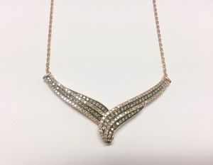 Chocolate Diamond Necklace In Rose Gold for Sale in Annandale, VA