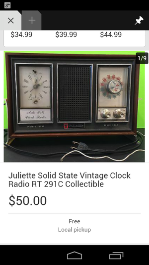 Juliette Solid state Vintage Clock Radio RT 291C Collectible for Sale in Little Rock, AR
