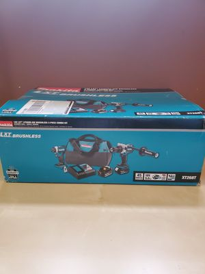 Makita 18-Volt LXT Lithium-ion Brushless Cordless 2-piece Combo Kit (Hammer Drill/ Impact Driver) 5.0Ah for Sale in Frederick, MD