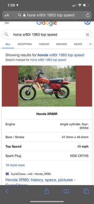 Honda 83' xr80r dirt bike for Sale in Tyler, TX