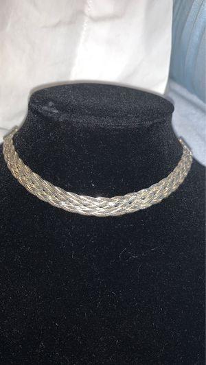 Sevilla silver .925 made in Italy designer choker for Sale in Azusa, CA