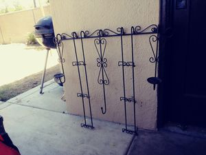 Baker's rack and wall decor with candle holder for Sale in Fresno, CA