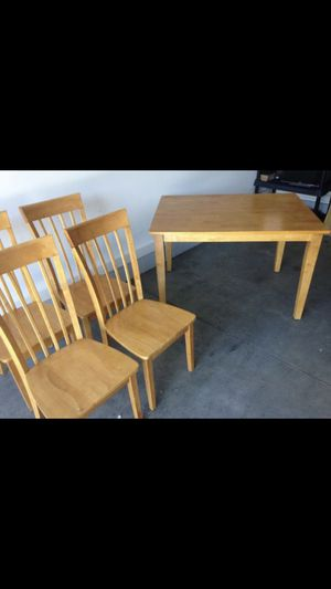 Wooden Dining Room Table with (4) Chairs for Sale in Newport News, VA
