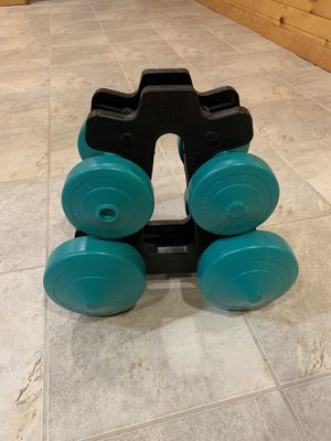 Dumbbell weight set for Sale in Joliet, IL