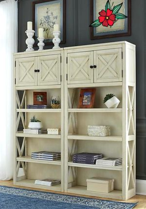 Bolanburg White/Oak Large Bookcase Set of 2 | H647 for Sale in Houston, TX