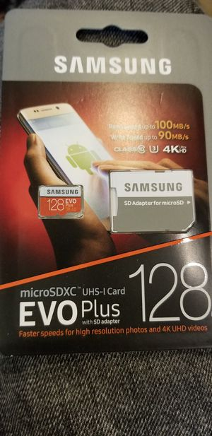 Samsung Memory Card microSDXC 128 gb for Sale in Baltimore, MD