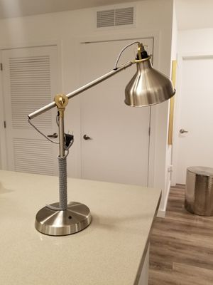 Fort Lauderdale: Gold Silver Black Desk Lamp for Sale in Fort Lauderdale, FL