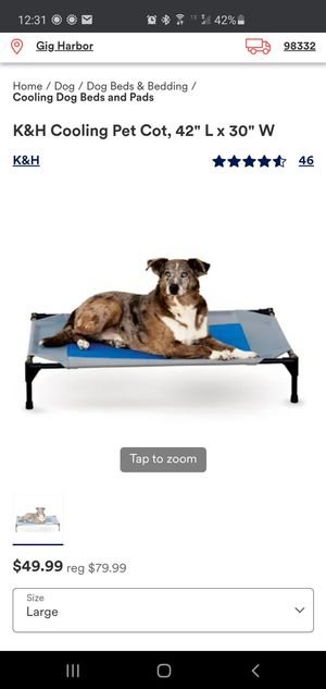 Dog cooling cot bed for Sale in Port Orchard, WA