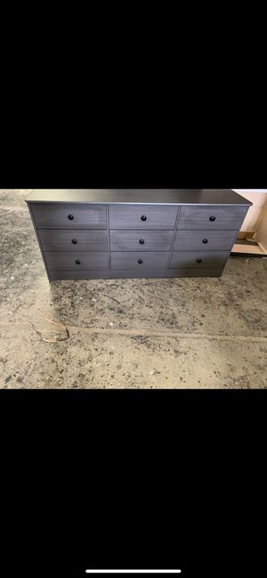 Grey 9 drawer dresser for Sale in Los Angeles, CA