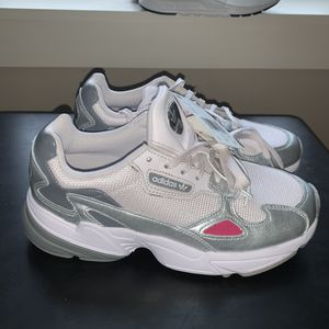 Women's Adidas Falcon Orchid Tint Silver Metallic Shoes size 7 and 7.5 for Sale in Ithaca, NY