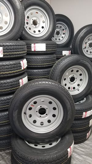 NEW TRAILER TIRES/WHEELS STARTING AT $70+TAX AND UP SEE BELOW FOR SIZES AND PRICES for Sale in Douglasville, GA