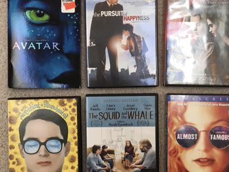 DVDs Avatar, Pursuit Of Happiness, Sweeney Todd , Almost Famous, Squid And The Whale , Everything Is Illuminated for Sale in Issaquah,  WA