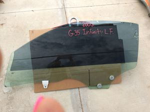 2006 Nissan Infinity G-35 Driver Front Window Glass for Sale in Jurupa Valley, CA