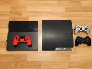 PS4 500gb & jailbroken PS3 with 65 games installed for Sale in Dallas, TX
