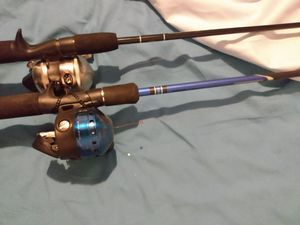 2 Rod/Reel Sets, Good Condition, $20.00 for both. for Sale in Indianapolis, IN