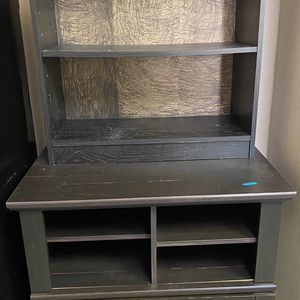 Black bookshelf with cabinet for Sale in Waltham, MA