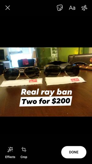 Set 2 original Ray ban sunglasses for Sale in Houston, TX