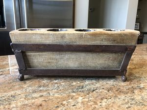4 Hole Rustic Sugar Mold, Candle, Succulent Holder for Sale in Spicewood, TX