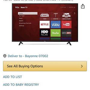 TCL 55 Inch Flt Screen Roku Smart TV for Sale in Bayonne, NJ