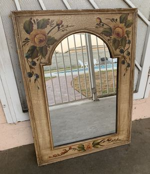 Vintage Hand Painted Floral Shabby Cottage Chic Mirror for Sale in West Covina, CA