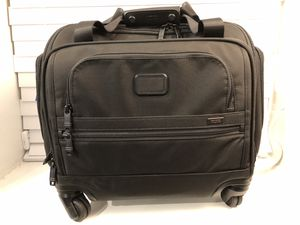 Tumi Alpha 2 26 L 4-Wheeled Compact Nylon Soft-shell Duffel - Black retails for $750 for Sale in Washington, DC