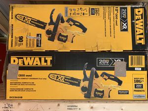 """Dewalt brushless xr 12"""" chainsaws tool only means no battery no charger not negotiable 125 each for Sale in Plant City, FL"""