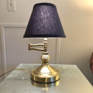 Vintage Mid Century Brass Lamp - Swing Arm w/Shade for Sale in Rockville, MD