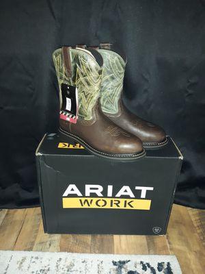 Ariat steel toe work boots for Sale in Bradyville, TN