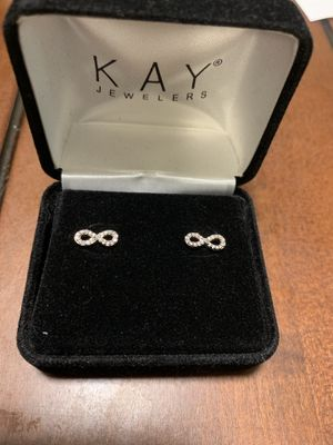 Diamond infinity earrings for Sale in CORNWALL Borough, PA