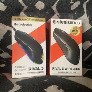 Steelseries Rival 3 and Rival 3 Wireless Gaming Mouse Unopened/Sealed New for Sale in Paramount, CA