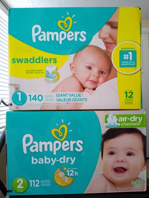 Pampers sizes 1 and 2 for Sale in Phoenix, AZ