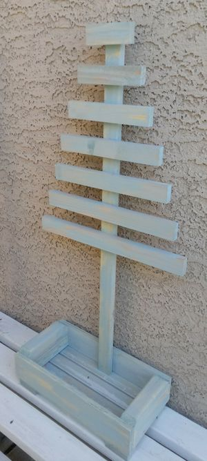 """36""""H X 16""""W X 8""""D 💐Wood Tree Jewerly Station/Planter ::: Rustic Caribbean Mist for Sale in Las Vegas, NV"""