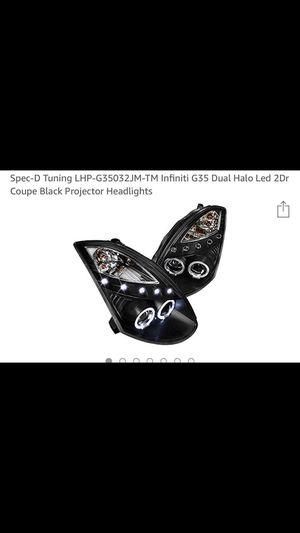 2003Infiniti G35 headlights brand new for Sale in Grayslake, IL