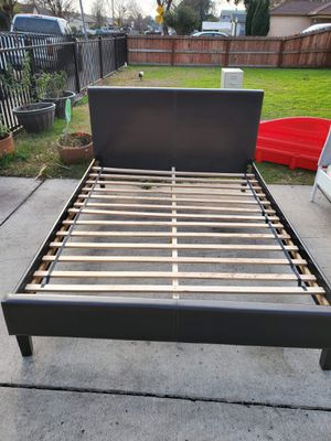 Queen bed frame and mattress included for Sale in Stockton, CA