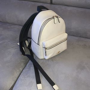 Coach Mini Pebbled Charlie Backpack - Cream for Sale in Rockville, MD