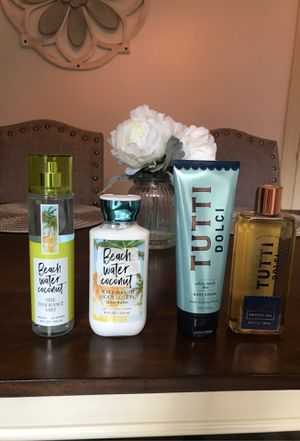 Bath and body lotion, soap and fragrance spray for Sale in Eugene, OR